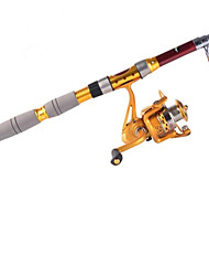 3,0 M Carbon-Red Sea Fishing Medium Light Angelrute