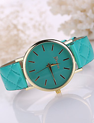 Women's Leather Band White Case Analog Quartz Wrist Watch Gift Cool Watches Unique Watches