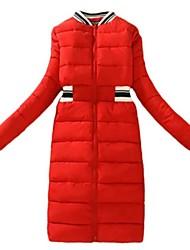 Manteau Rembourré Aux femmes Manches Longues Street Chic Polyester