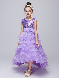 Girl's Blue / Purple Dress,Dresswear Polyester Summer / Spring / Fall
