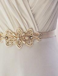 Satin Mariage / Fête/Soirée / Quotidien Ceinture-Billes / Appliques / Perles Femme 250cm Billes / Appliques / Perles