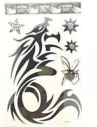1 шт Дрогон водонепроницаемый временную татуировку (26.5cm * 19см)