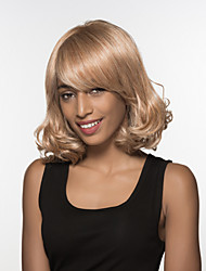 Stunning  Medium Length Wavy Woman's  Capless Remy Hand Tied Top wig