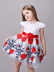 Vestido Chica de-Verano-Rayón-Rojo