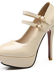Women's Shoes Patent Leather/Stiletto Heel/Platform/Round Toe Heels Wedding/Party & Evening/Dress Black/Red