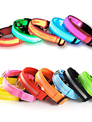 Cat / Dog Necklace Red / Orange / Yellow / Green / Blue / White / Pink Dog Clothes Summer Solid LED