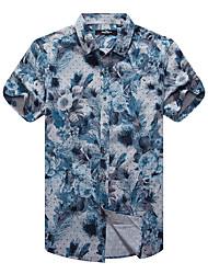 Sieben Brand® Herren Hemdkragen Kurze Ärmel Shirt & Bluse Dunkelblau-704A359358
