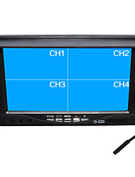 "7 Inch Quad-TFT-LCD Car Rearview Monitor With ""U"" Stand Reverse Backup Camera High Quality"