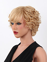15 couleurs de nouveaux courts blonds bouclés mélange résistant à la chaleur des femmes à choisir