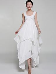 Women's Simple Solid Swing Dress,Asymmetrical Asymmetrical Polyester