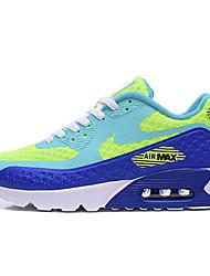 Nike Air Max 90 Chaussure de Jogging Femme Antiusure Vert / Violet / Pêche / Orange Course Lacet Tissu