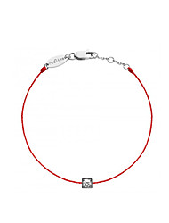 Fashion Women Trendy Pure Square Stone Redline Bracelet