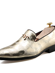 Men's Oxfords Wedding/Party & Evening/Casual Fashion Leather Shoes Black/Gold/Silver 38-43