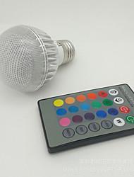 E27 85V-265V 100-300Lm 3W RGB Remote Control LED Colorful Bulbs
