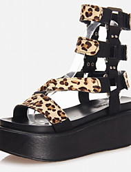Women's Shoes Leatherette Platform Platform / Gladiator Sandals Office & Career / Dress / Casual
