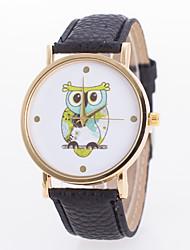 Women's Hot Fashion European Style Cartoon Owl Geneva Wrist Watch Cool Watches Unique Watches