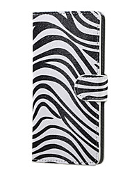 Zebra Pattern Magnetic PU Leather wallet Flip Stand Case cover for Huawei Ascend P9
