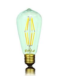 NO Lâmpada Redonda LED Regulável / Decorativa B22 / E26 / E26/E27 6W 400-500 lm 2200K-2700K K Branco Quente 8 COB 1 pçAC 220-240 / AC