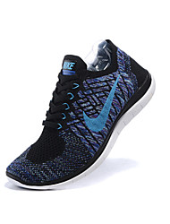 Nike Free 4.0 Flyknit Men's Running Shoes Athletic Shoes Fashion Sneakers Gray / Royal Blue / Taupe
