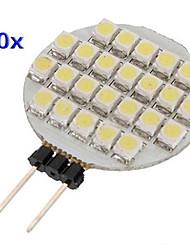 g4 0.9W 24 smd 1210 weiße, runde LED-Lampe (12 V DC, 10 Stück)