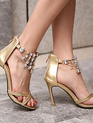 Women's Shoes Heel Heels / Peep Toe Sandals / Heels Wedding / Party & Evening / Dress Gold