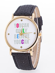 Women's European Style Fashion Simple Letters You Can Only Believe You Can Wrist Watch Cool Watches Unique Watches