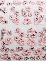 цветок горячий рельеф ювелирных изделий розовые ногти