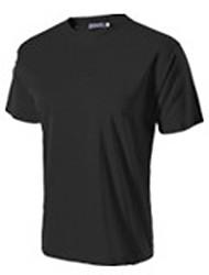 Homme Tee-shirt Camping / Randonnée Escalade Sport de détente Cyclisme/Vélo Course/Running Respirable Anti-transpiration EtéJaune Noir