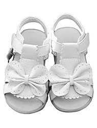 Girls' Shoes Casual Open Toe Leather Sandals White