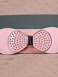Women Leather Bow Wide Belt,Vintage / Cute / Party / Casual Alloy