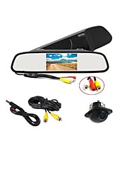 caméra de stationnement 170 ° hd + voiture rétroviseur moniteur lcd