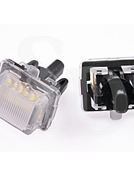 2PCS 2011 Year Mercedes-Ben-z E Class W212 4D 5D LED License Plate Lamp 12V 14W LED with Special LED Decorder