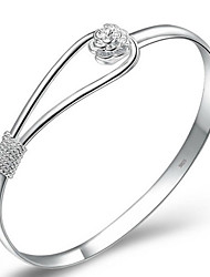 Fine 925 Silver Cuff Bracelet Bangles Jewelry Christmas Gifts