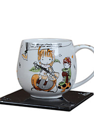 Light Blue Cartoon Children Breakfast Cup