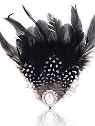 Femme Perle Plume Plume Noir/blanc Bijoux Mariage Soirée Décontracté