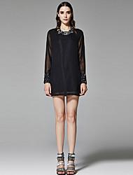 ZigZag® Femme Col Arrondi Manche Longues Shirt et Chemisier Noir - 11198