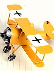 Retro Biplane Model Decorative Furnishing Articles-Random Color