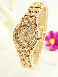 Mulheres Relógio de Moda Quartzo Impermeável Lega Banda Prata Dourada Ouro Rose # 1 # 2 # 3