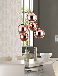 Max 60 W Pendant Light ,  Modern/Contemporary / Globe Electroplated Feature for Mini Style Metal Living Room / Bedroom / Dining Room