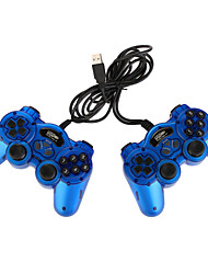 USB Double Vibration Controller for PC Blue