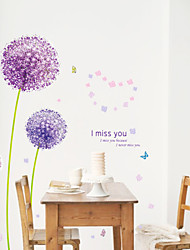 Botanický motiv / Romantika / květiny / Krajina Samolepky na zeď Samolepky na stěnu,pvc 50*70CM