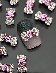 Милый-Стразы для ногтей-Пальцы рук-1.5cm-10pcs-Металл
