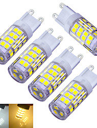 3W G9 Luces LED de Doble Pin T 51 SMD 2835 240-300 lm Blanco Cálido / Blanco Fresco Decorativa AC 100-240 V 5 piezas