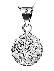 AAA Zircon Sterling Silver CZ Beads Necklace Pendant Necklaces Daily / Casual 1pc