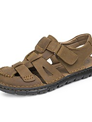 Men's Shoes Outdoor / Athletic / Casual Nappa Leather Sandals Taupe