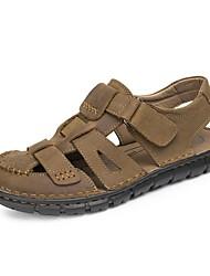 Sandales homme printemps été confort automne nappa cuir bureau extérieur&Robe de carrière casual light brown water shoes