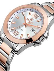 Men's Women's Unisex Fashion Watch Imitation Diamond Quartz Stainless Steel Band Black Gold