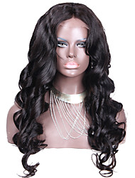 Hot Sale Loose Wave Thick Human Hair Lace Front Wigs Brazilian Virgin Loose Wave Lace Front Glueless Wig With  In Stock