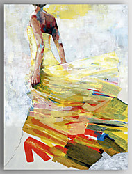 Oil Painting a Woman Wearing a Skirt Hand Painted Canvas with Stretched Framed