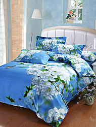 Beautiful Flower New Arrival Luxury 3D Pattern Bedding Sets Duvet Cover Sets, Queen Size